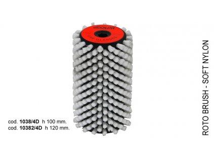 SOLDA Soft nylon roto brush  mm 100 (Nylonový rotační kartáč 100mm - měkký nylon)
