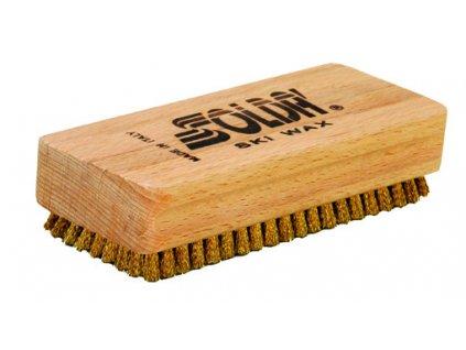 SOLDA Brass wire flat brush (Mosazný kartáč - ruční, plochý)