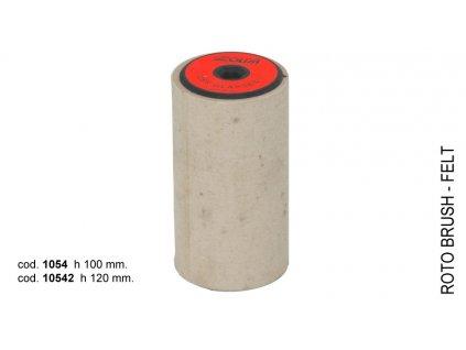 SOLDA Felt roto brush  mm 100 (Kartáč rotační - filc, plsť 100mm)