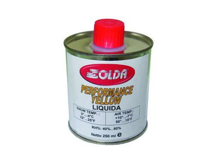 SOLDA PERFORMANCE  liquid  250 ml (Nízkofluorový vosk tekutý 250ml, Žlutý, Teplota sněhu -0°/-2°C nebo teplota vzduchu +5°/+2°C)