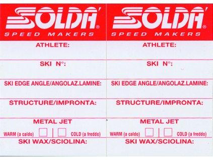 SOLDA Label for alpine skis (Nálepka na lyže sjezdové)