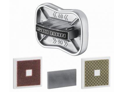 "SKI-MAN Brousek na lyže ""EASY SHARP KIT"" 90°/89°/88°/87° (pilník 40 mm + diamant + kámen-trizact)"