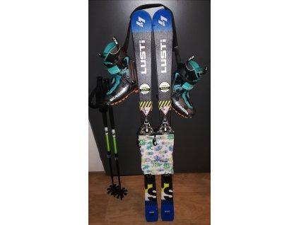 Dětské skialpinistické lyže 130 cm + vázání tour light + stoupací pásy