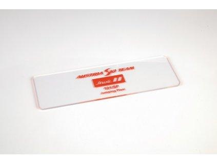 Stěrka na lyže plastová SNOLI (cidlina) SKOK 200 x 60 x 3 mm řezaná