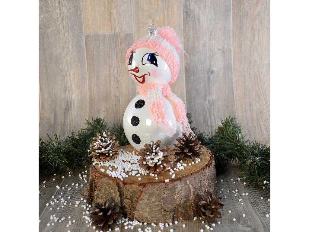 Když je sněhulákovi zima (Balení 1ks, Barva růžová, Velikost 18 cm)