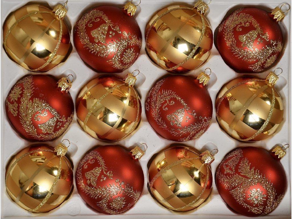 Zvonky štěstí (Balení 12ks, Barva červená, Velikost 7 cm)