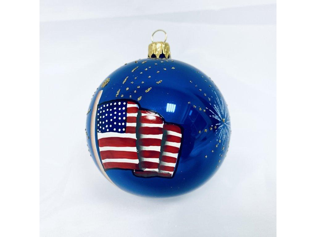 Amerika (Balení 1ks, Barva modrá, Velikost 8 cm)