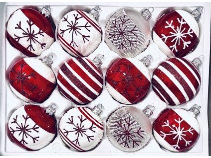 Santa Klausova šála (Balení 12ks, Barva červená, Velikost 7 cm)