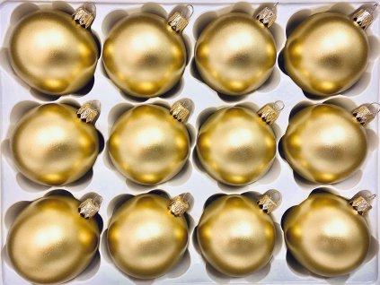 Koule zlatá (Balení 12ks, Barva zlatá, Velikost 6 cm)