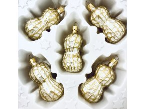 Skleněná ozdoba - burský ořech