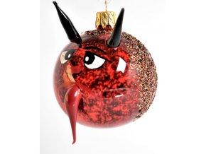Skleněná vánoční ozdoba, čert, 1 ks
