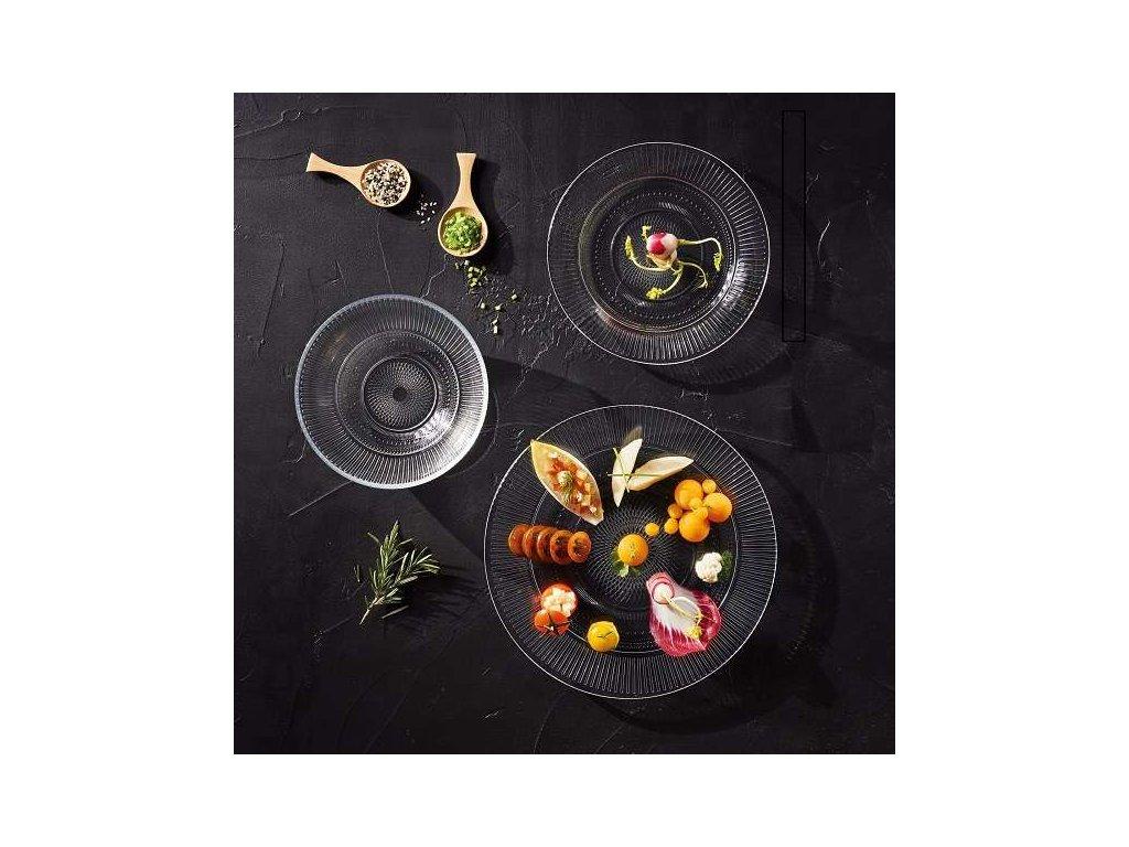 Luminar jídelní souprava skleněných talířů Louison 18 ks