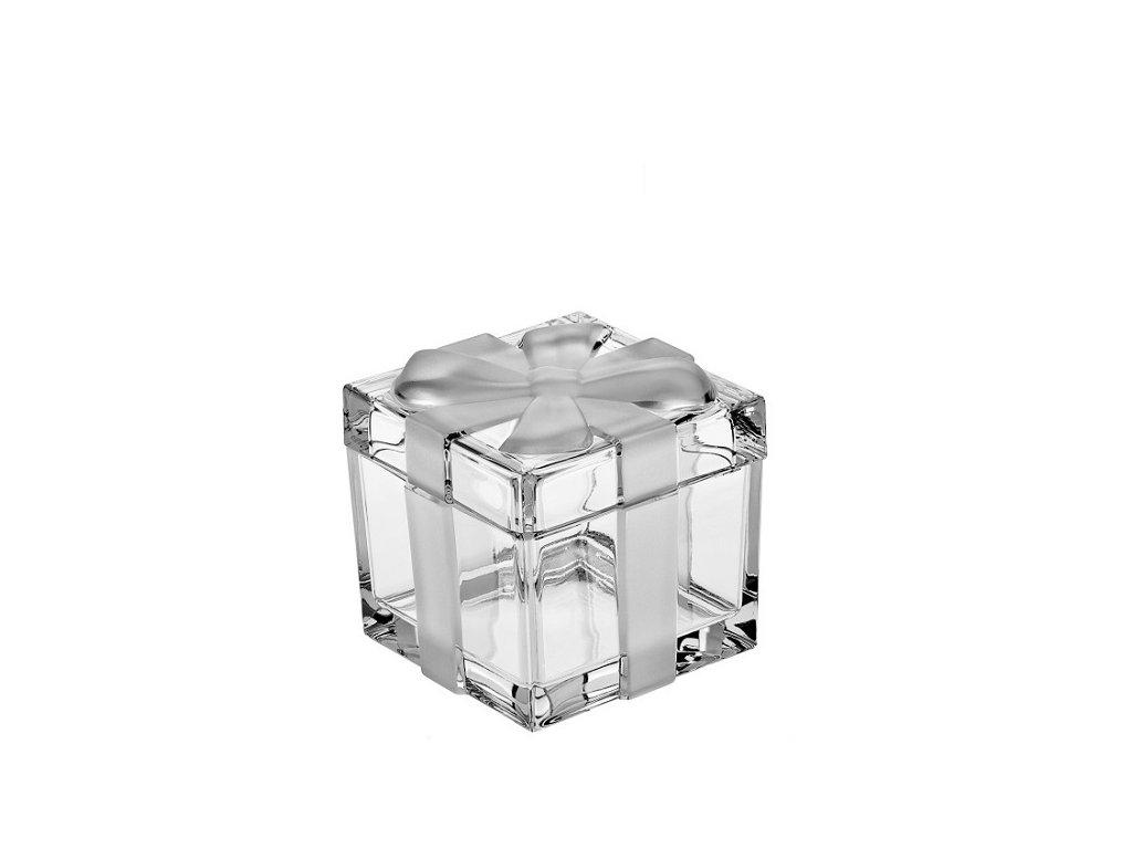 crystal bohemia dóza dárková krabička 115 mm