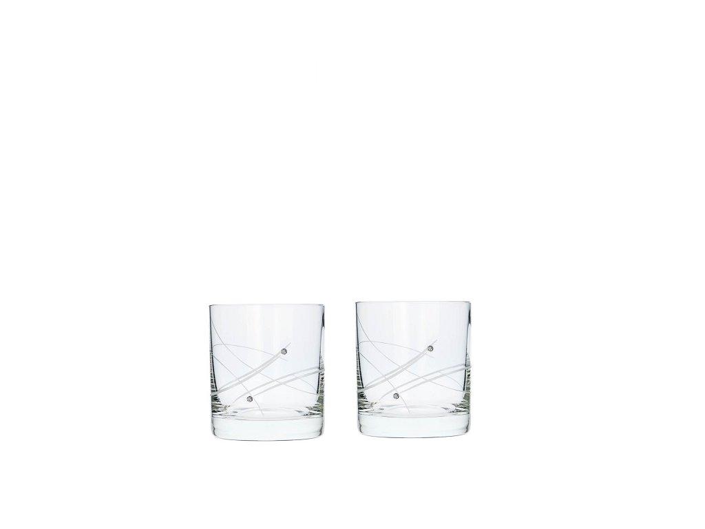 sklenice na whisky swarovski 2 ks