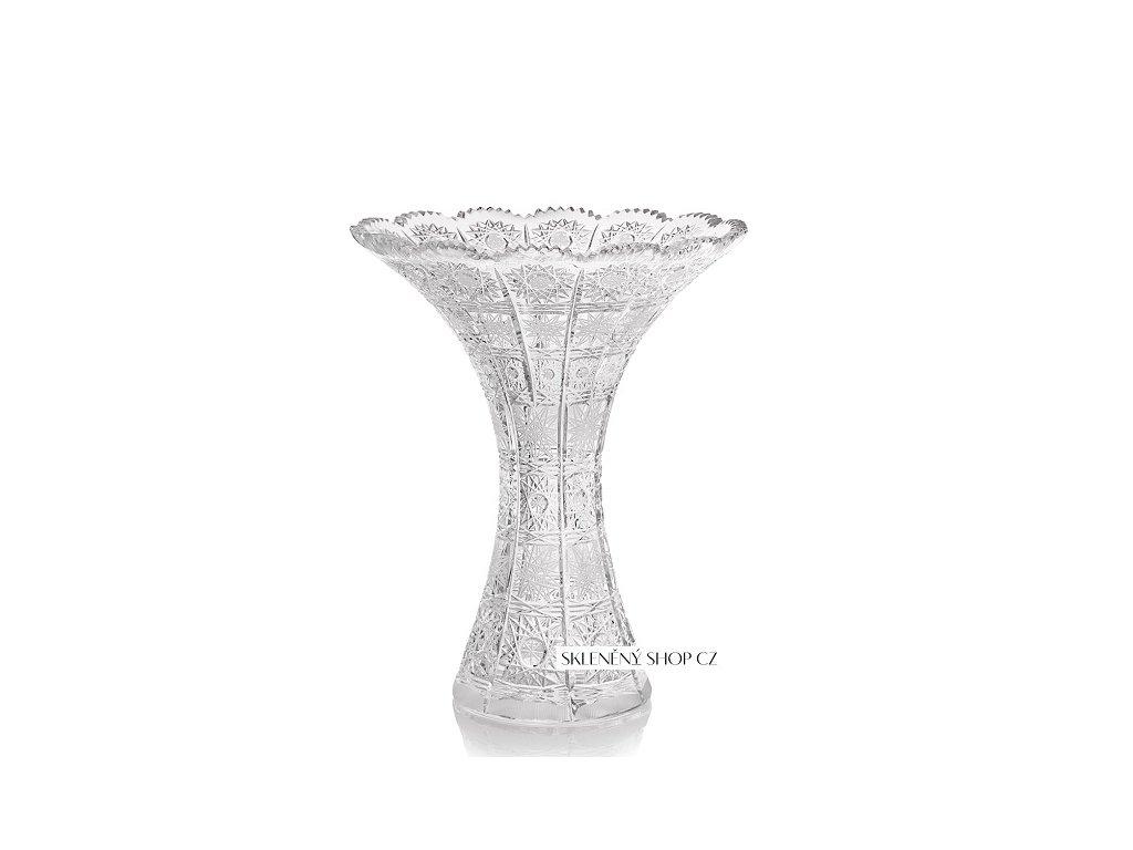 Aurum Crystal Broušená váza FLOWER 250 mm