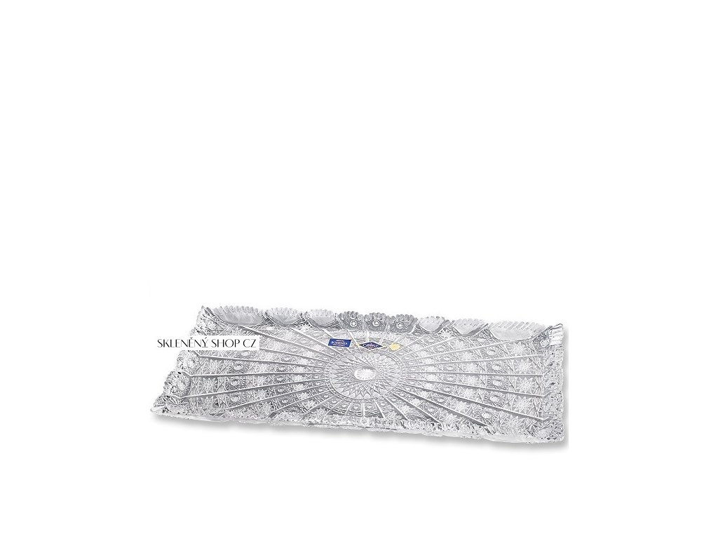 Aurum Crystal Broušený tac CLASSIC 400 mm