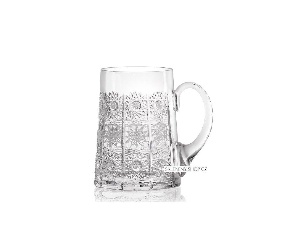 Aurum Crystal Broušený půllitr na pivo 0,5 l