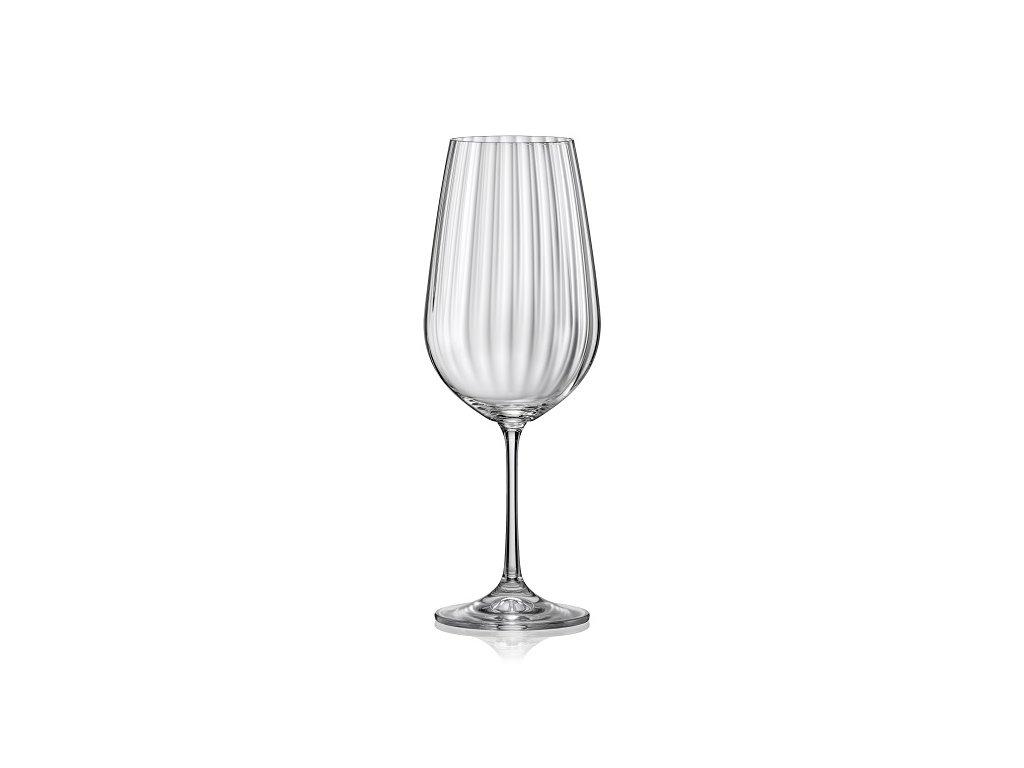 Crystalex Sklenice na víno WATERFALL 550 ml