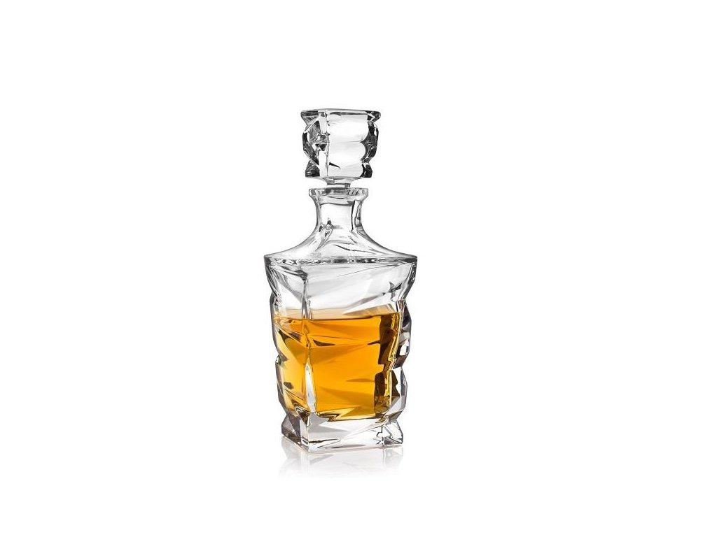 Crystal Bohemia Zig zag whisky karafa