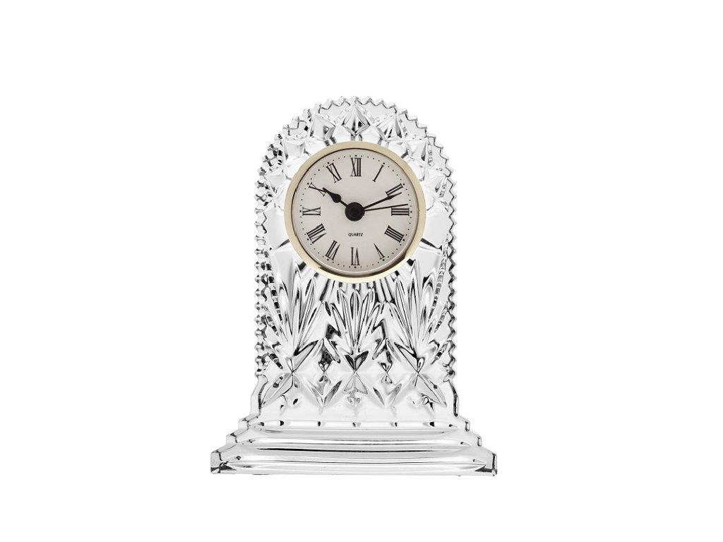 Crystal Bohemia Skleněné hodiny GOLD 175 mm