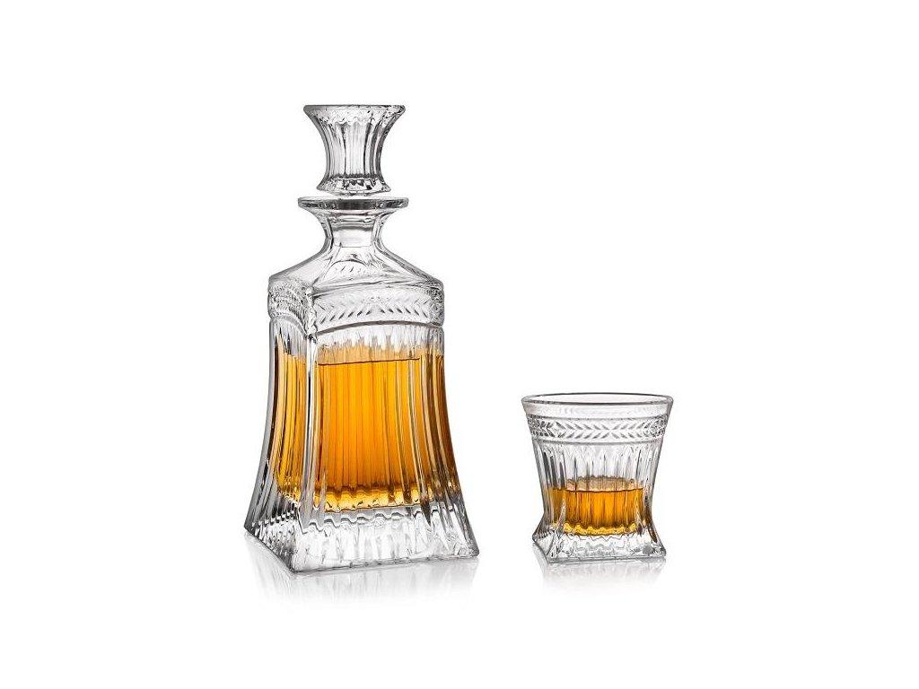 whisky set crystal bohemia imperial