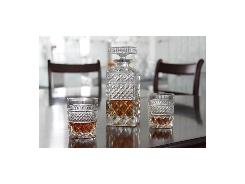 whisky set Madison crystal bohemia mensi