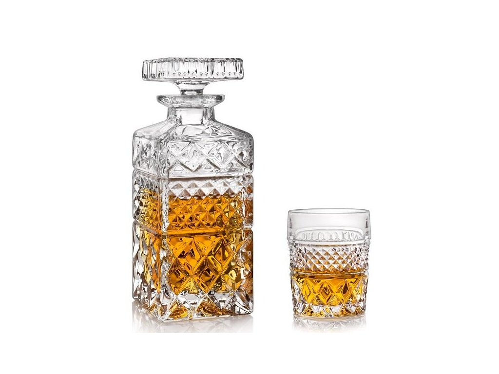 Crystal Bohemia Madison whisky set