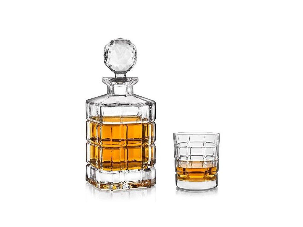 crystal bohemia timesquare whisky set