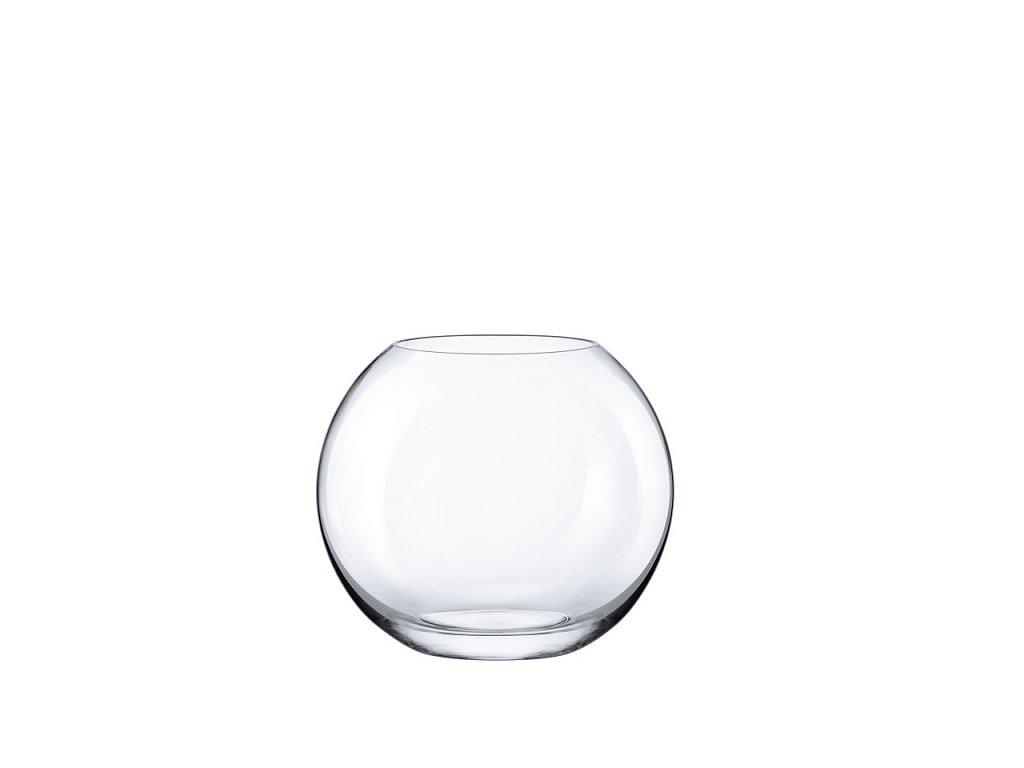 Rona skleněná váza kulatá 20 cm