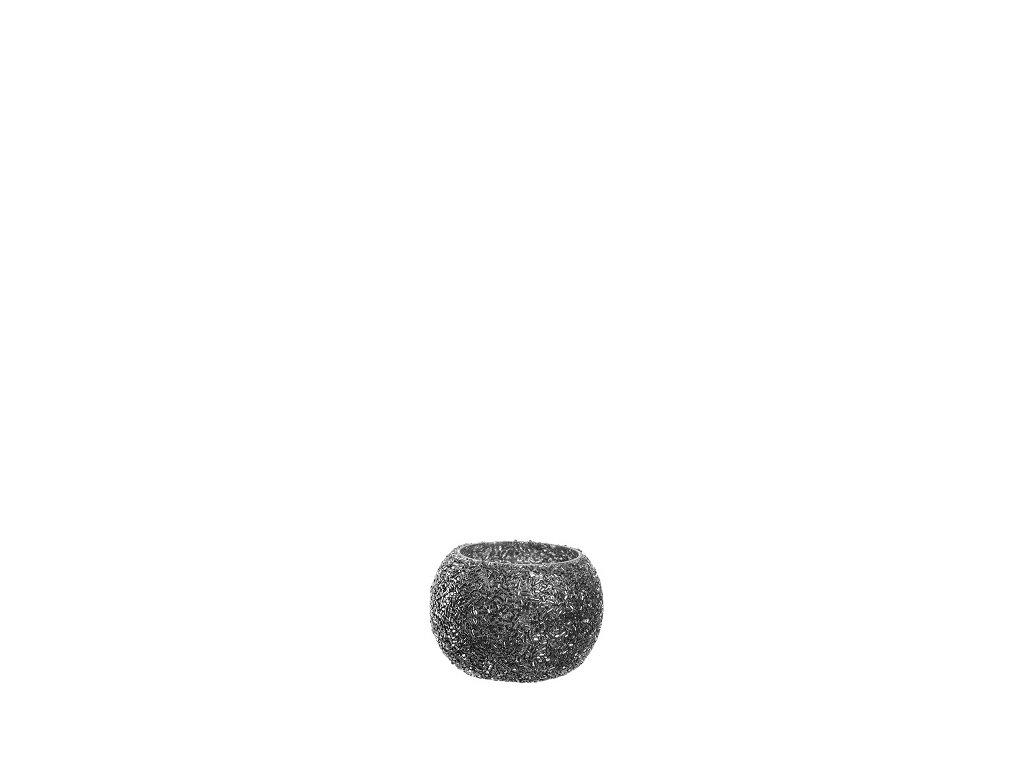 Leonardo perlovy svicen hnedy 6 cm
