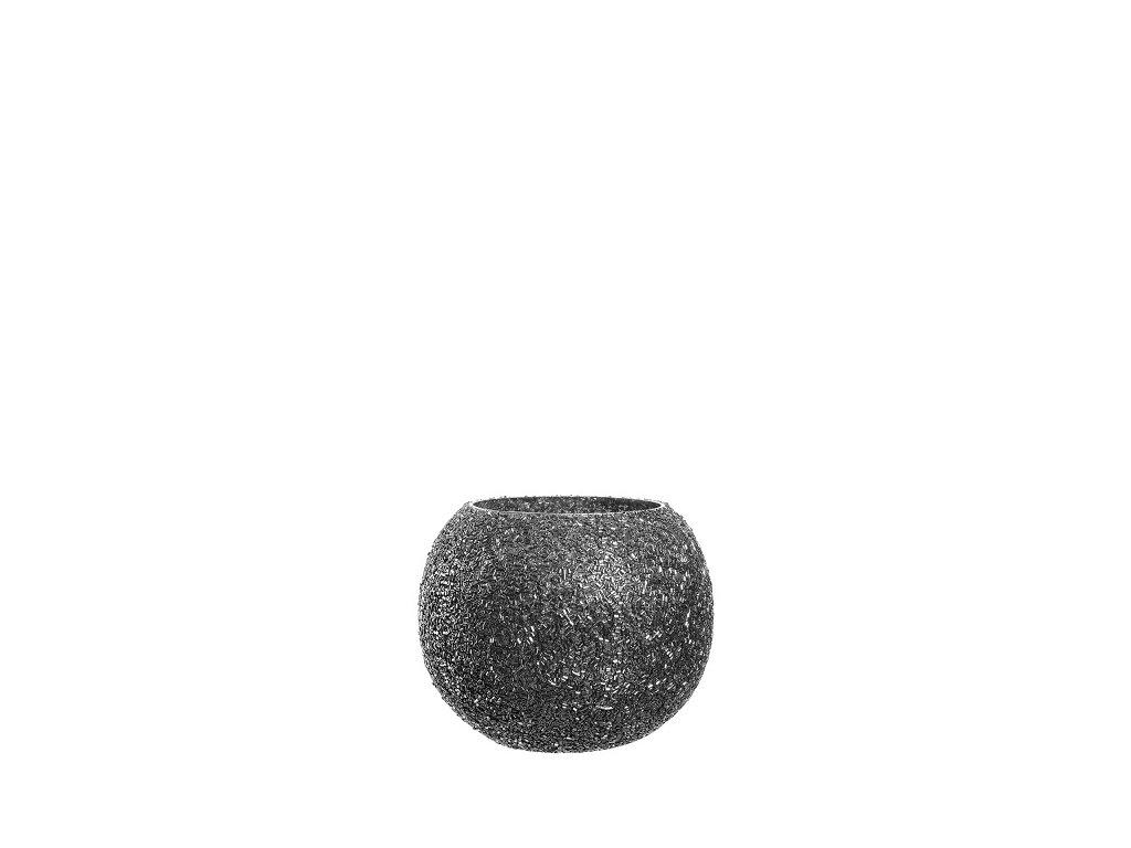 Leonardo perlovy svicen hnedy 10 cm