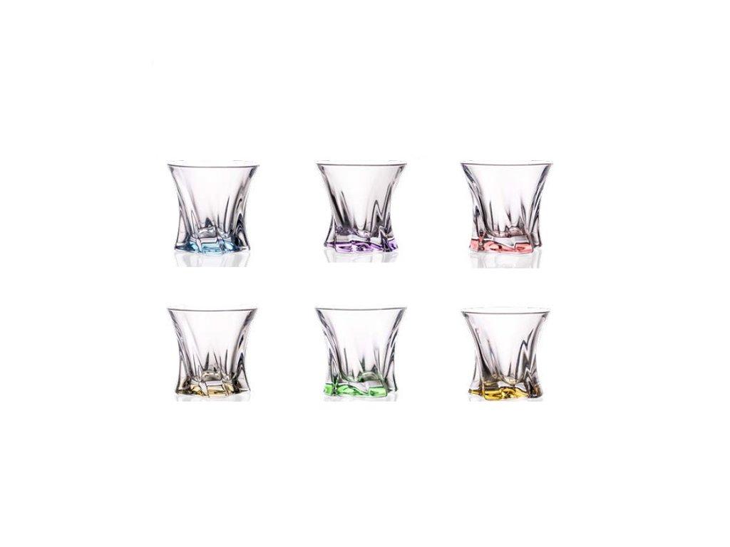 Aurum Crystal Cooper barevné sklenice