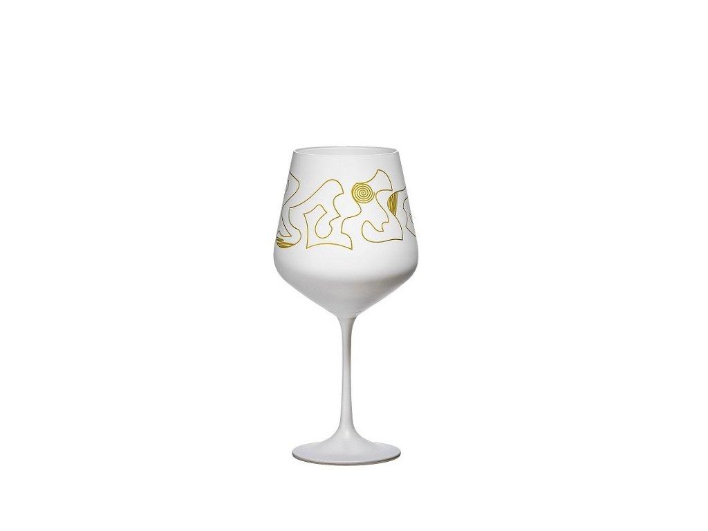 Crystalex Bílé sklenice Eclectic White 570 ml