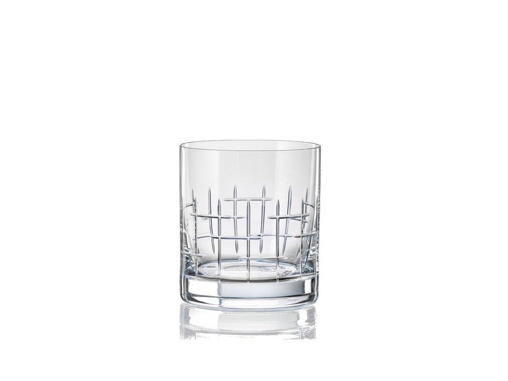 Crystalex sklenice na whisky Matte Cross 280 ml