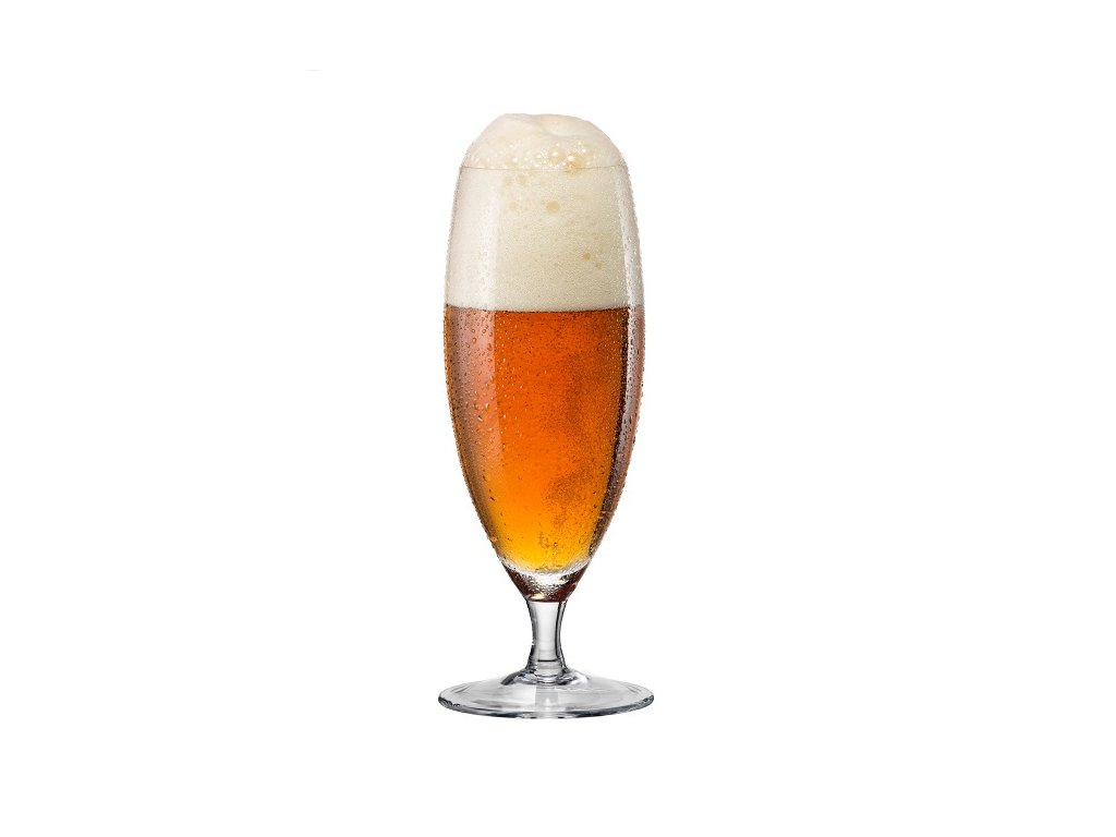 Crystalex Sklenička na pivo na stopce 380 ml