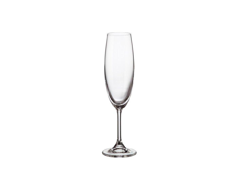 crystalite bohemia sklenice na sekt sylvia 220 ml