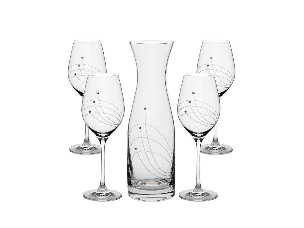 set sklenice na vino karafa swarovski classic vital