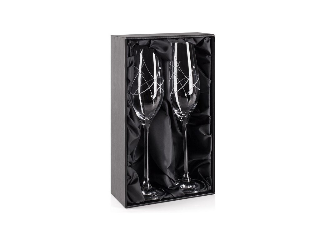 darkova krabicka sklenice na sekt swarovski classic modern