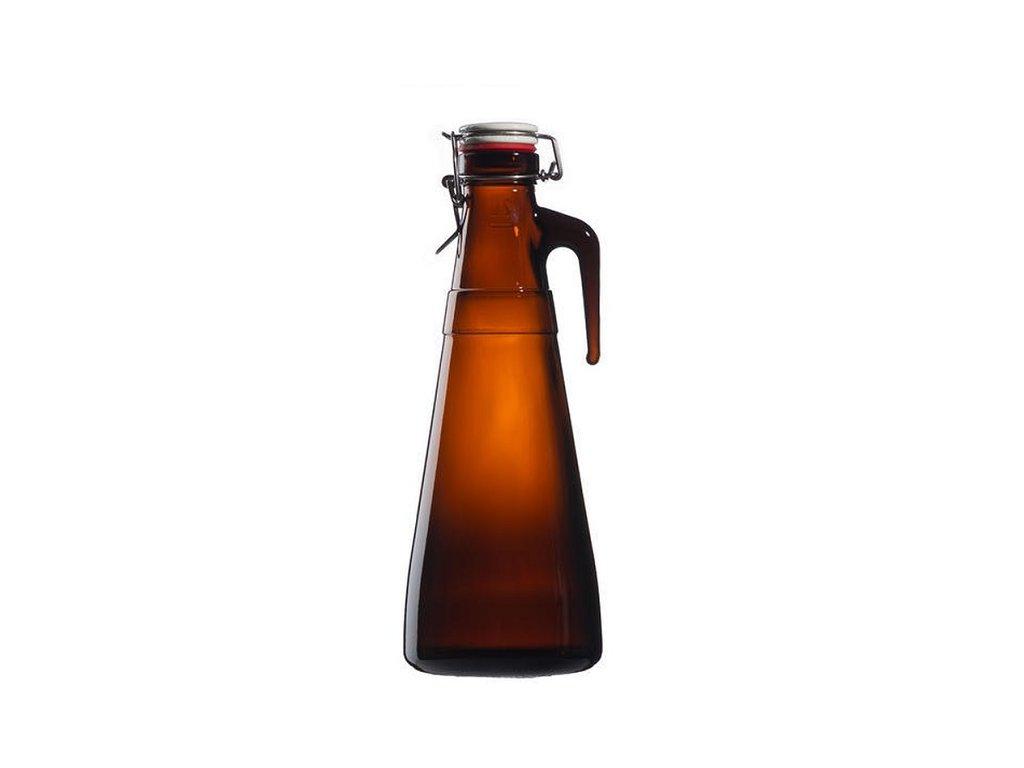 schmit pivni lahev s uzaverem tmave sklo bonn 2 l