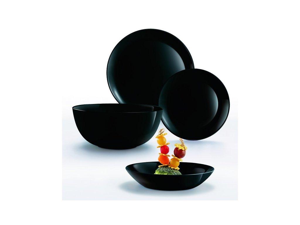 Luminarc Diwali black jídelní souprava talířů