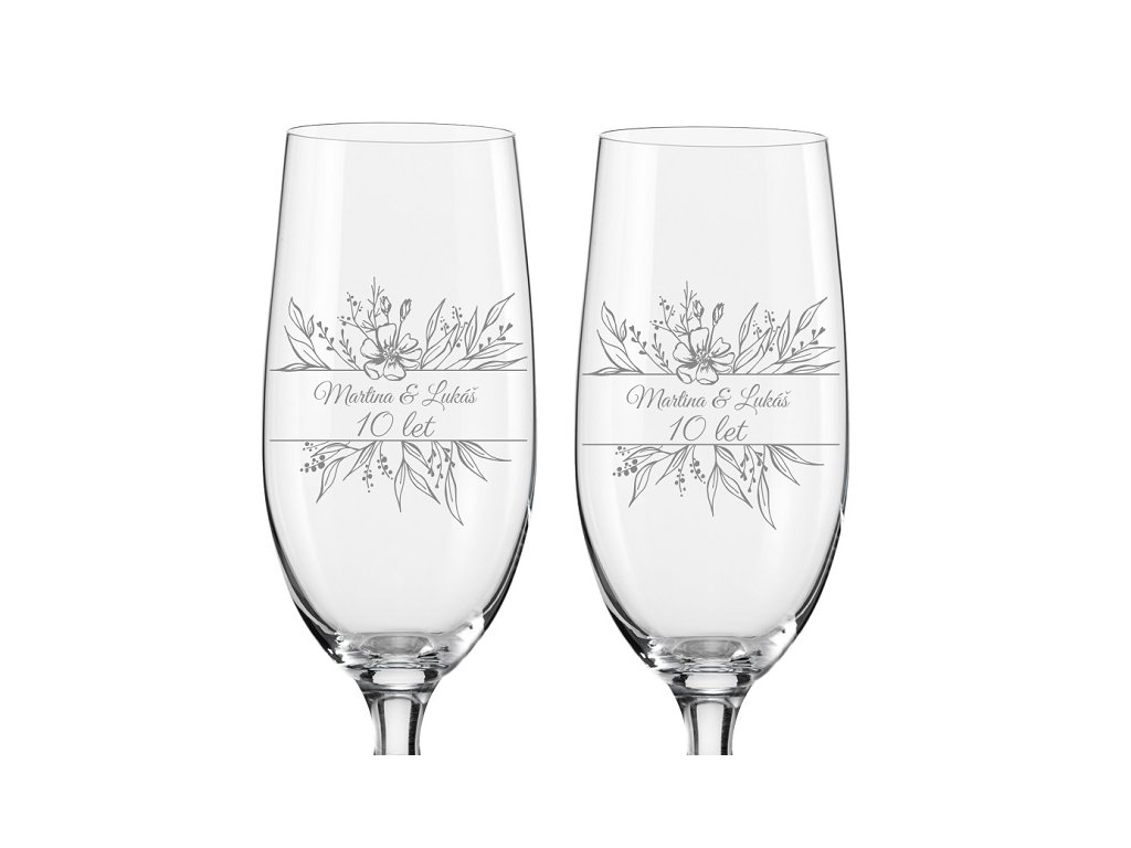 sklenice k výročí na pivo