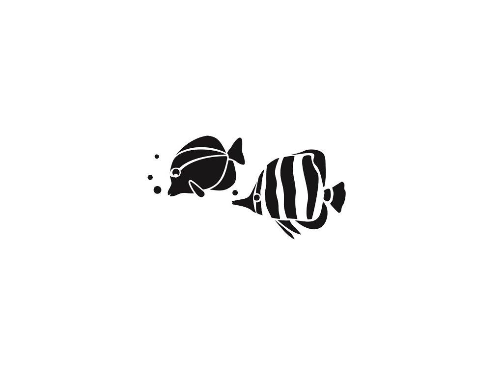 Rybičky pískování obrázku