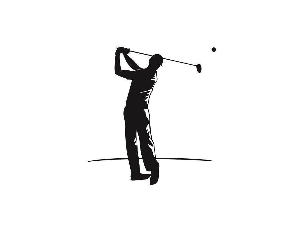 Golfista pískování motivu