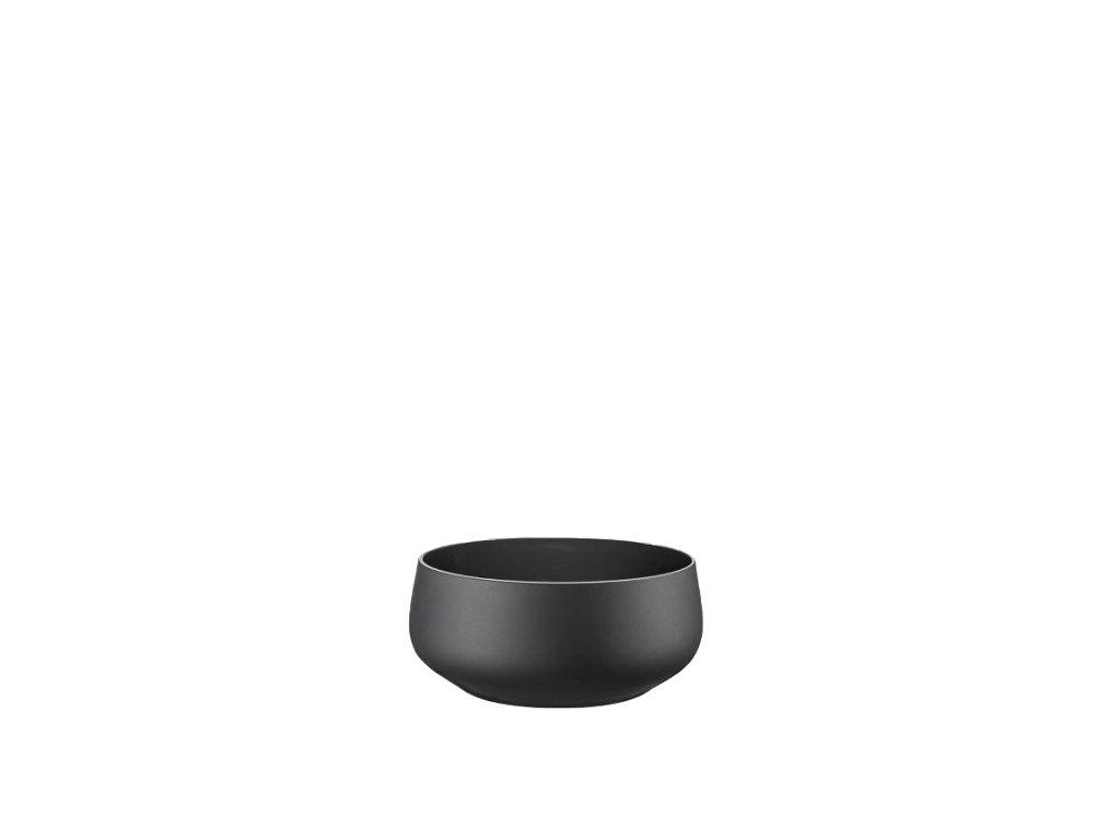 Crystalex Černé skleněné misky