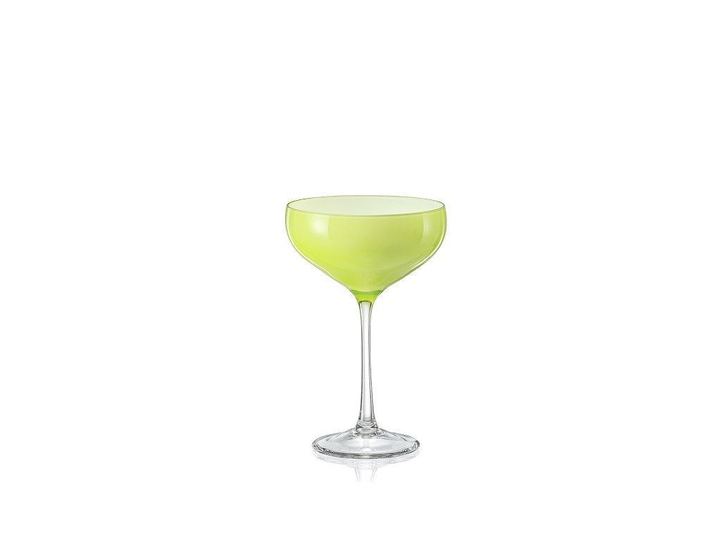 Crystalex Sklenice na koktejly Pralines 180 ml zelená D5254 40919 180