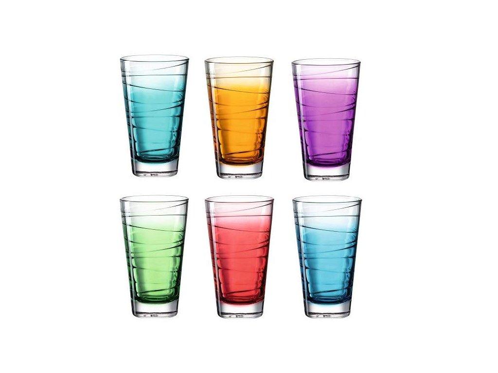 Leonardo barevné sklenice Vario Struttura 280 ml