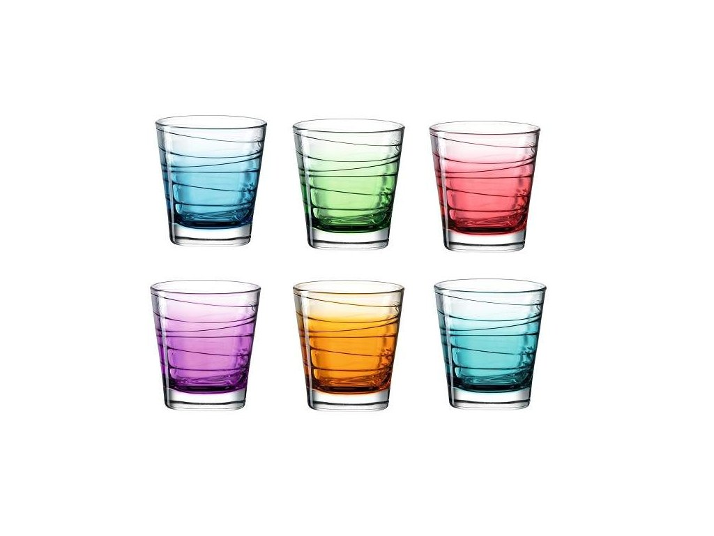 Leonardo barevné sklenice Vario Strutturra 250 ml