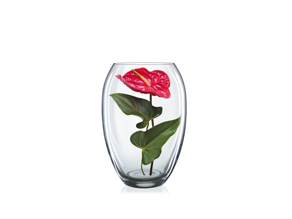 Crystalex skleněná váza Vejce 225 mm
