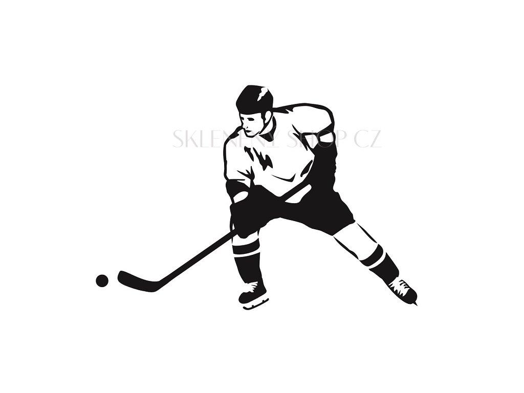 Hokejista pískování obrázku