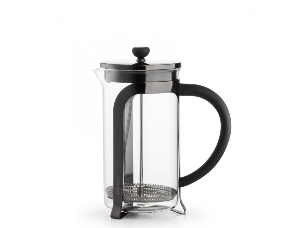 Leopold vienna french press shiny black 1 l
